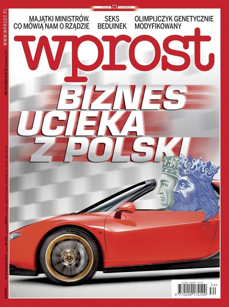 Okładka tygodnika Wprost nr 34/2016 (1750)