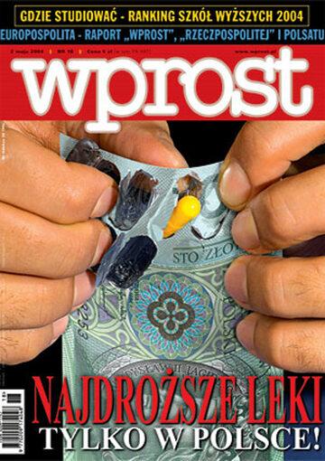 Okładka tygodnika Wprost nr 18/2004 (1118)