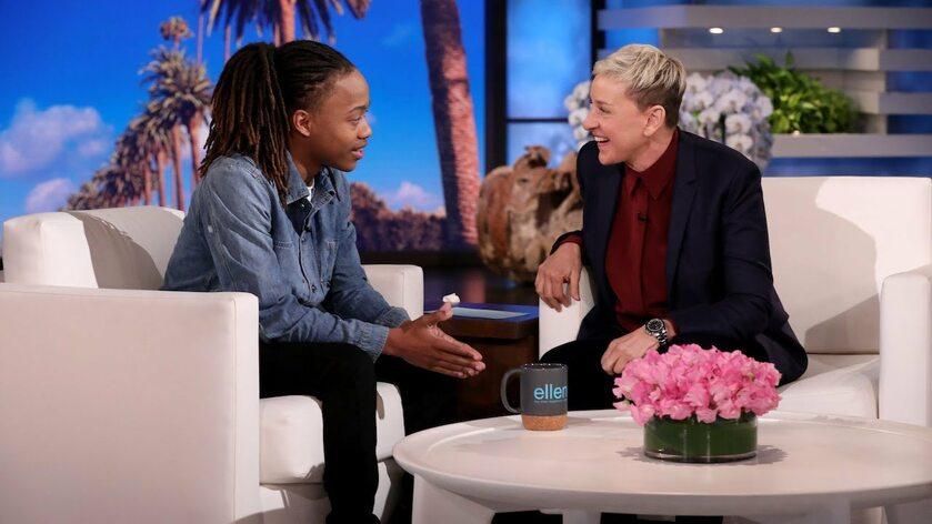 DeAndre Arnold  i Ellen DeGeneres