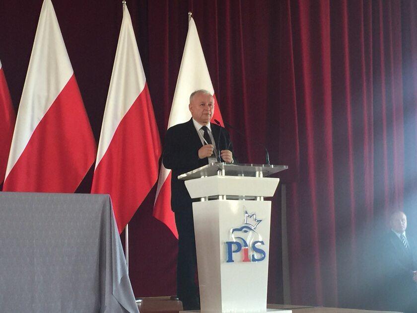 Jarosław Kaczyński podczas Rady Politycznej PiS