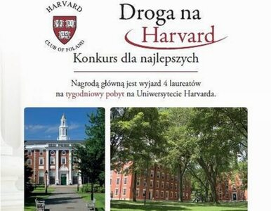 """""""Droga na Harvard"""" – mija termin składania zgłoszeń"""