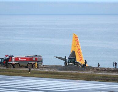 O krok od katastrofy samolotu ze 162 pasażerami. Maszyna zawisła na klifie