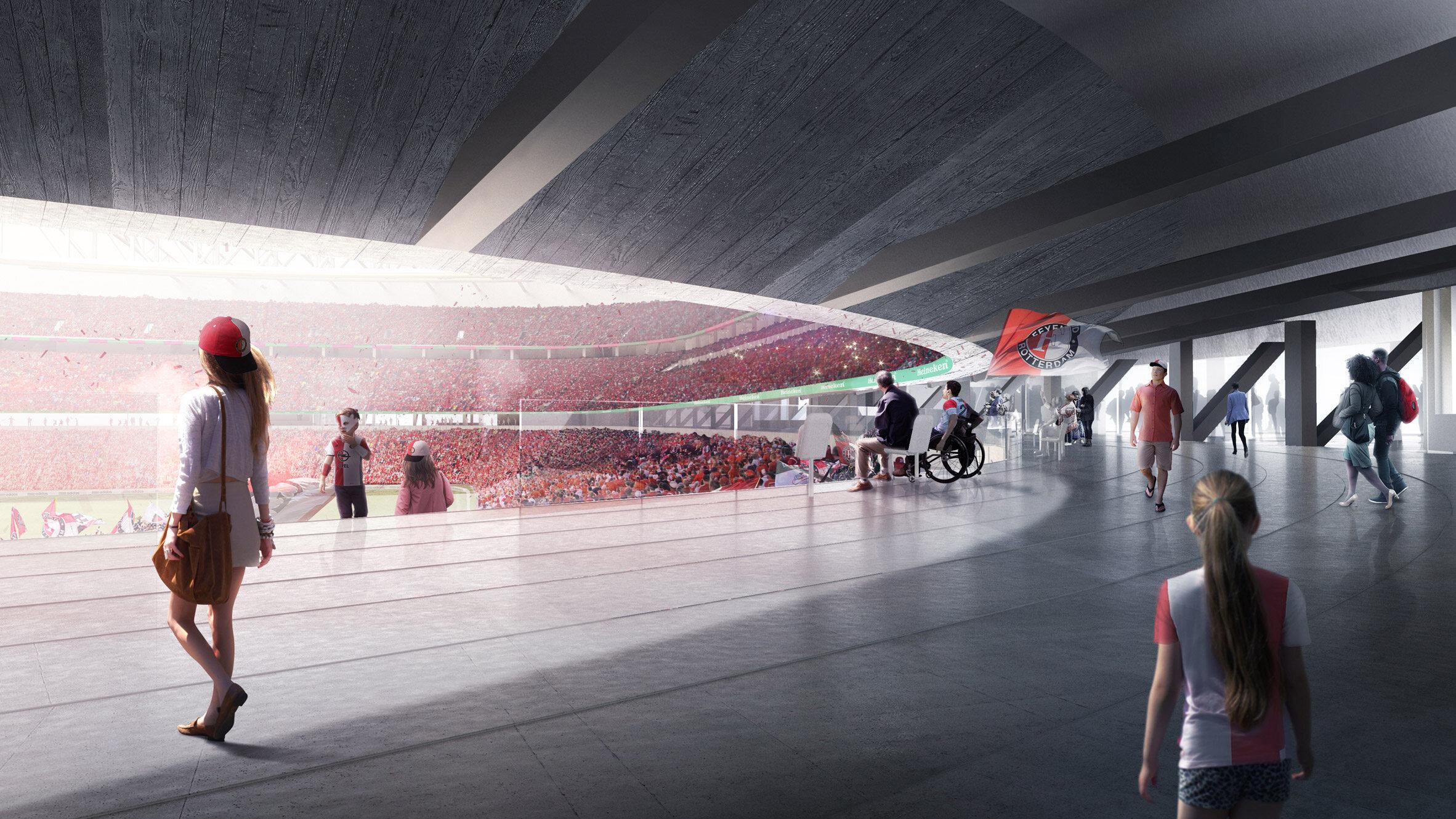 Nowy stadion w Rotterdamie Nowy Stadion Feyenoordu Rotterdam