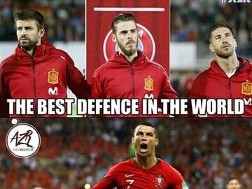 Hiszpania - Portugalia. MEMY - Cristiano Ronaldo królem internetu