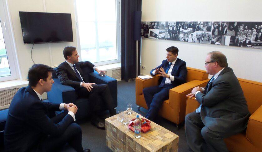 Spotkanie Ryszarda Petru z Markiem Rutte