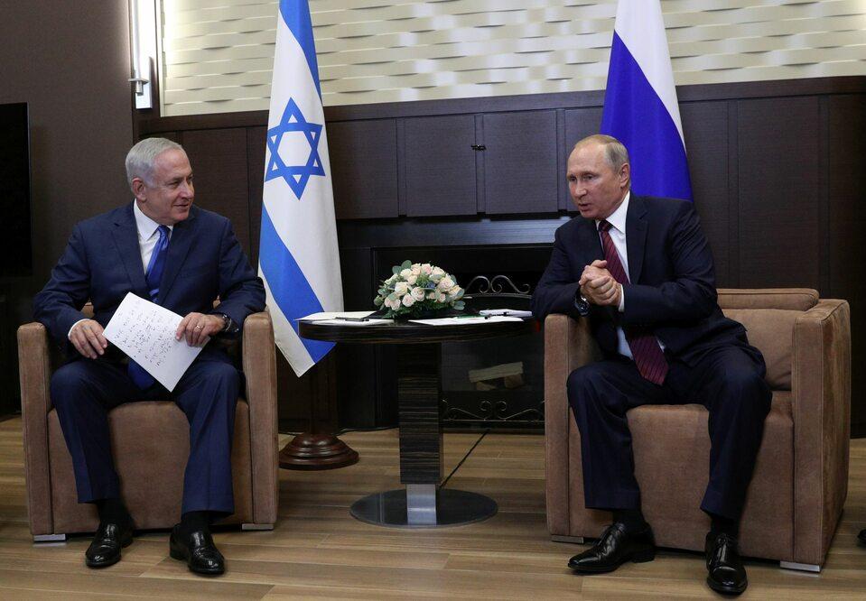 Binjamin Netanjahu i Władimir Putin