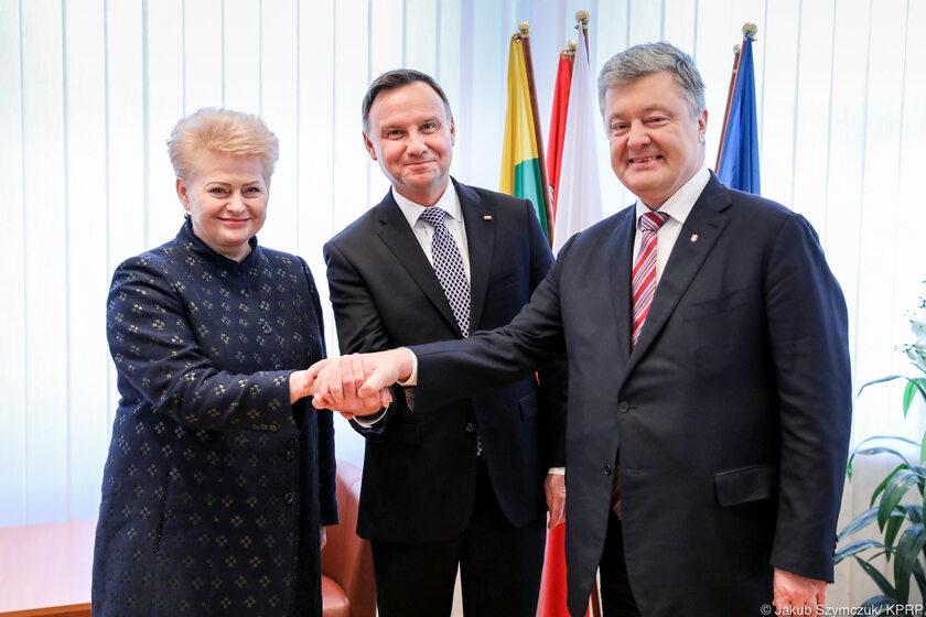 Spotkanie Andrzeja Dudy z Dalią Grybauskaite i Petrem Poroszenką