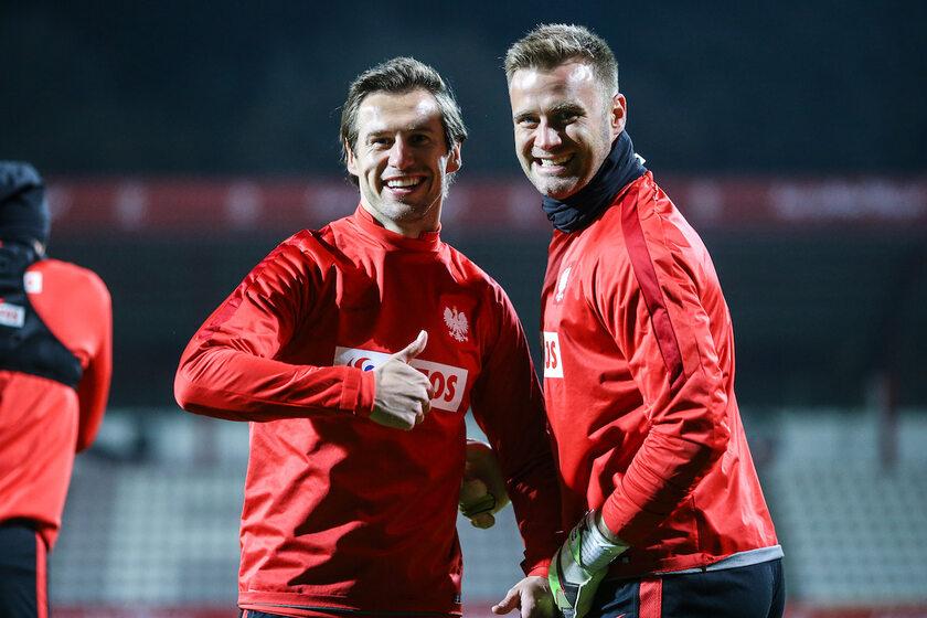 Grzegorz Krychowiak i Artur Boruc (po prawej)