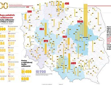 Mapa 100 najbogatszych Polaków