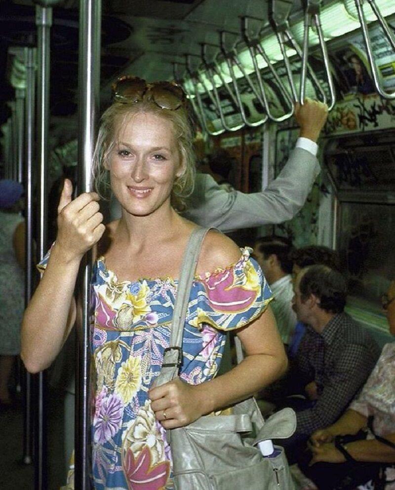 Meryl Streep w metrze, 1981 r.