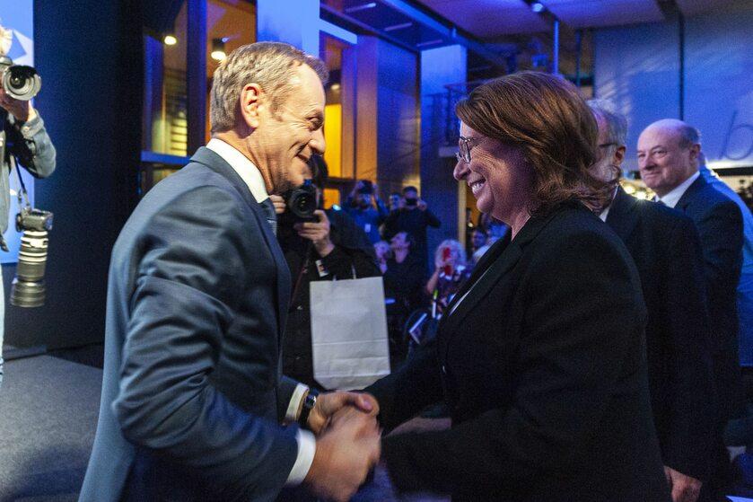 Donald Tusk i Małgorzata Kidawa-Błońska