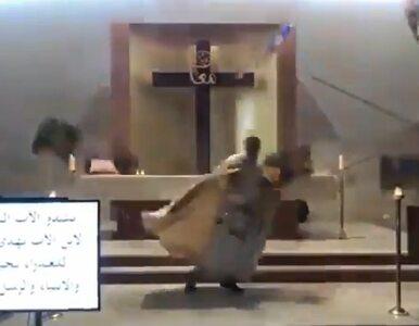 Eksplozja w Bejrucie. Wstrząsające nagranie z kościoła