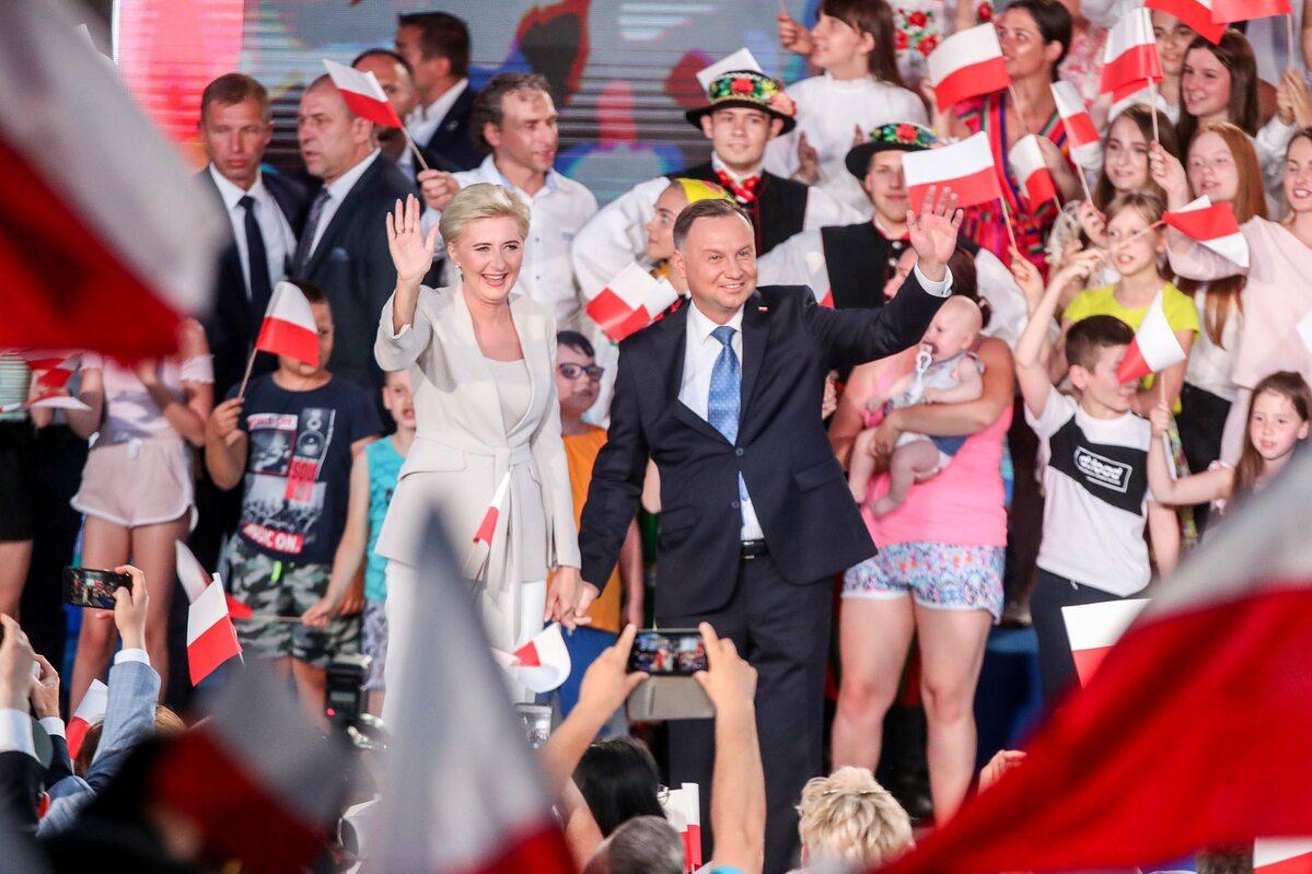 Wieczór wyborczy w sztabie Andrzeja Dudy