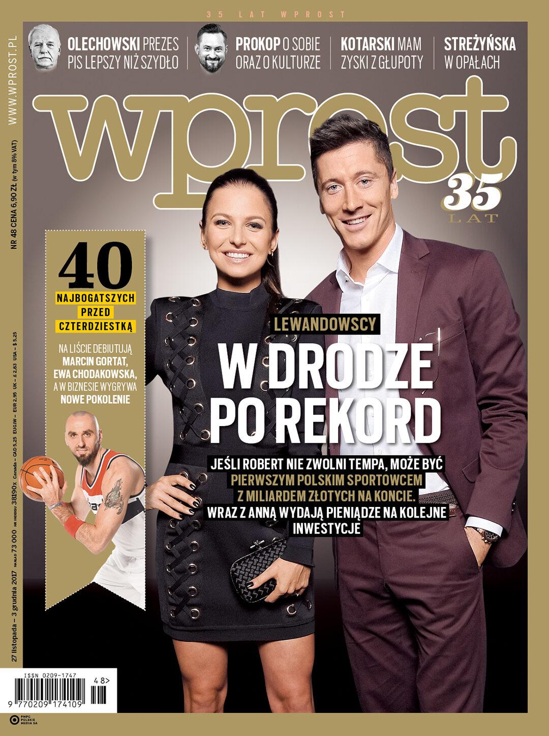 Okładka tygodnika Wprost nr 48/2017 (1813)