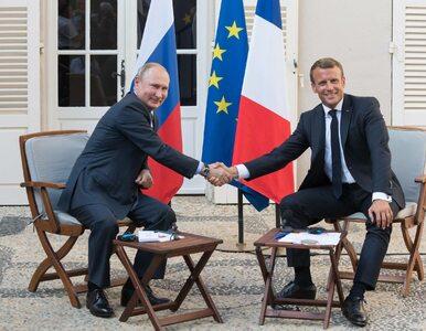 Macron wzywa Putina do poszanowania demokracji. Putin: Nie chcę w Rosji...