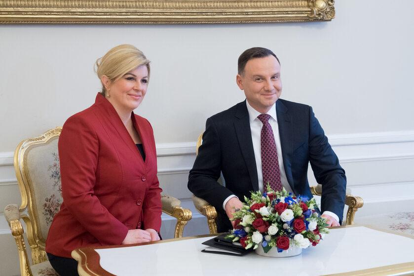 Andrzej Duda z prezydent Chorwacji Kolindą Grabar-Kitarović