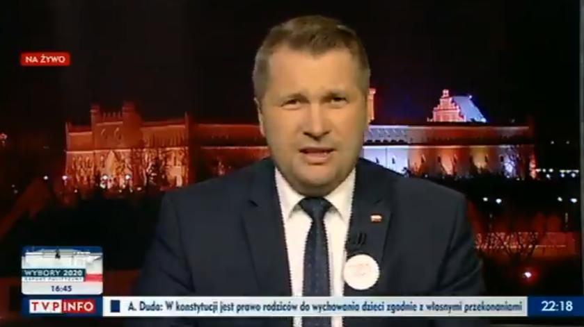 Przemysław Czarnek w TVP Info