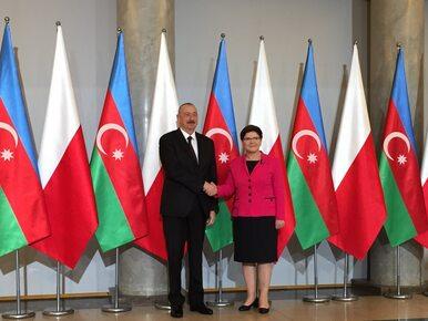 """Premier Szydło spotkała się z prezydentem Azerbejdżanu. """"To ważny..."""