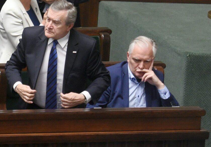 Wicepremier Jarosław Gowin w Sejmie po głosowaniu nad ustawą o SN