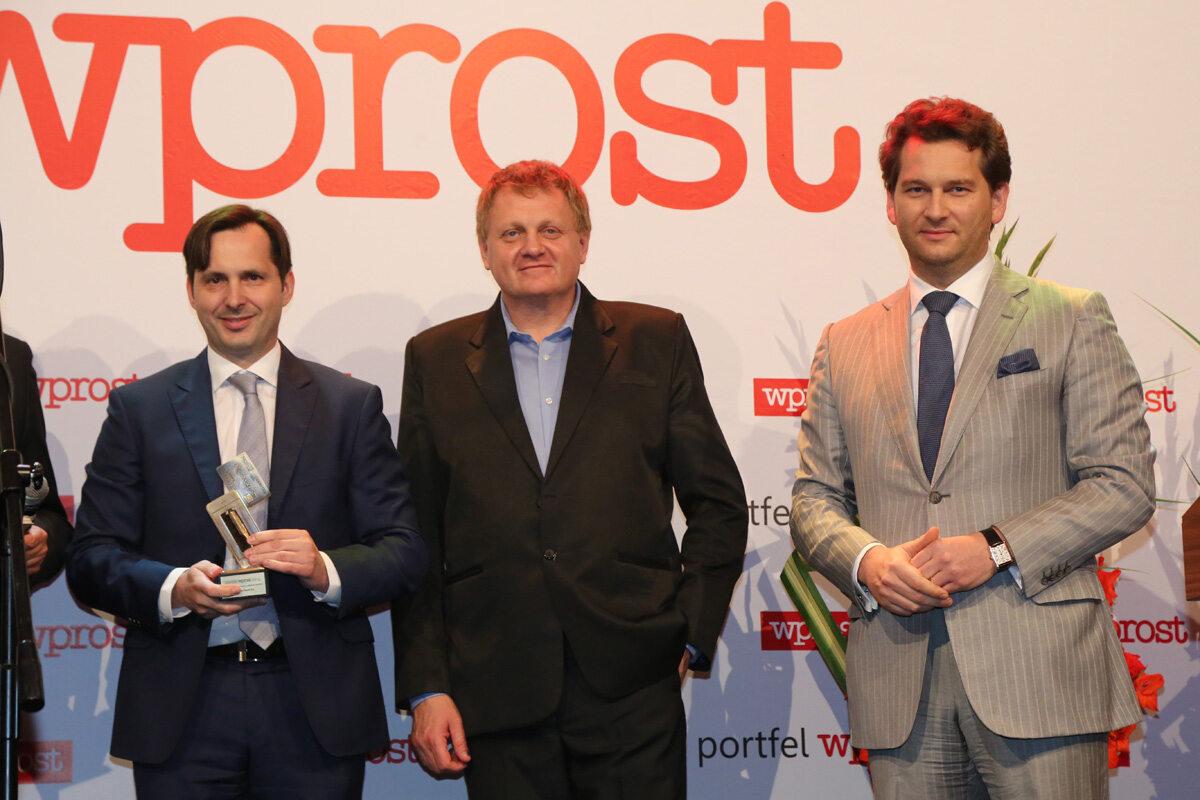 Rzecznik Prasowy ING Bank Śląski - Piotr Utrata, Redaktor Naczelny Tomasz Wróblewski oraz Michał M. Lisiecki - Wydawca Wprost