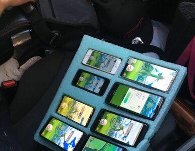 Amerykański kierowca grał w Pokemony na ośmiu telefonach jednocześnie....