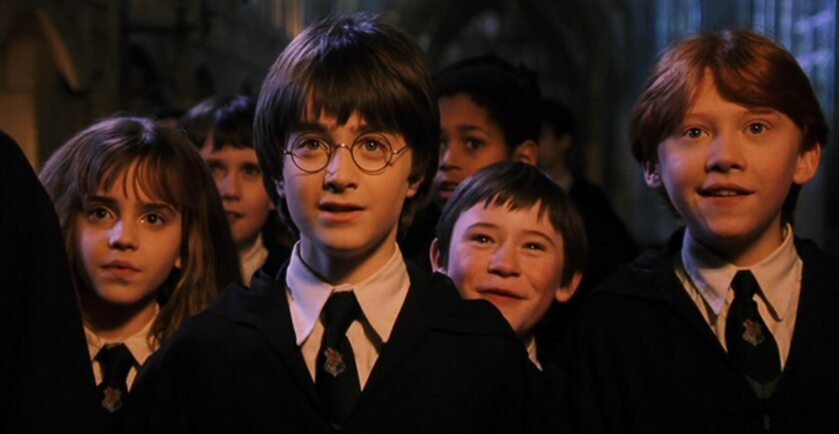 "Kadr z filmu ""Harry Potter i Kamień Filozoficzny"""