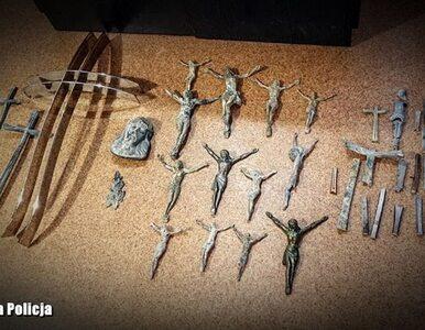 40-latek zrywał krzyże z nagrobków i... przetapiał na złom