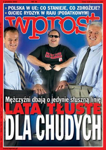 Okładka tygodnika Wprost nr 49/2002 (1045)