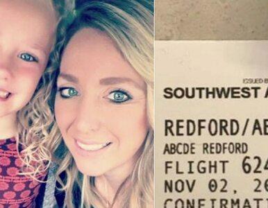 Jej córka ma na imię Abcde. 5-latka stała się obiektem żartów na lotnisku