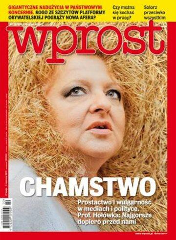 Okładka tygodnika WPROST: 22/2013