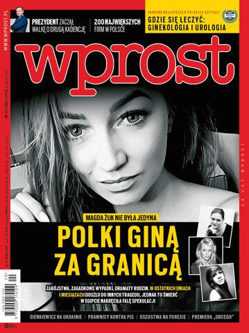 Okładka tygodnika Wprost nr 20/2017 (1786)