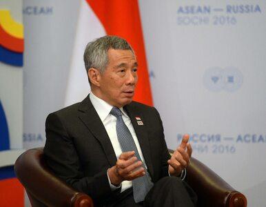 Premier Singapuru zasłabł na mównicy. Przerwano przemówienie