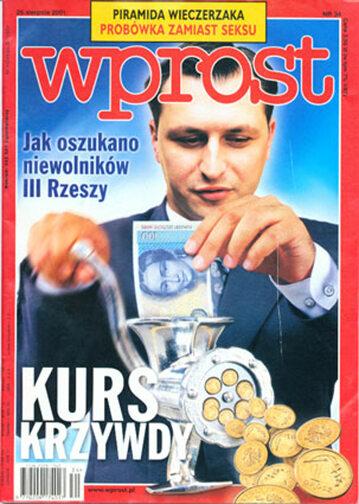 Okładka tygodnika Wprost nr 34/2001 (978)
