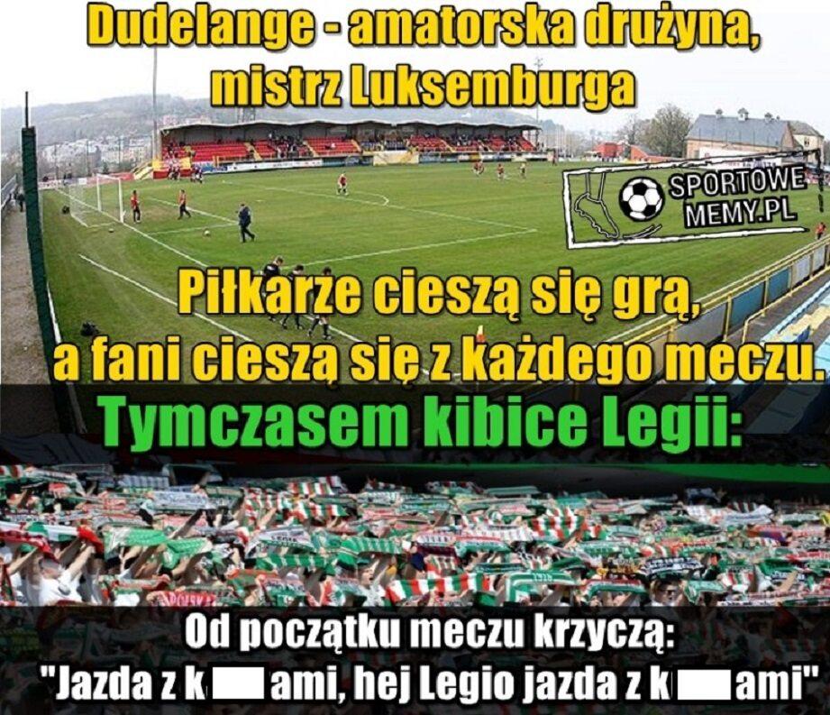 Memy po blamażu Legii Warszawa z Dudelange