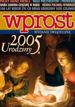 Okładka tygodnika Wprost nr 51/52/2005 (1203)