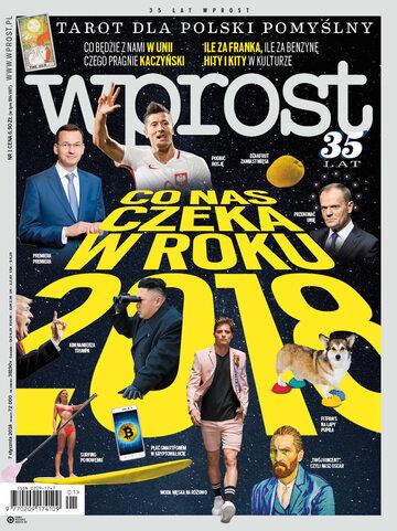 Okładka tygodnika Wprost nr 1/2018 (1817)