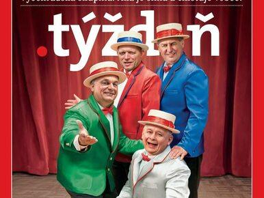 Roześmiany Kaczyński na okładce słowackiego tygodnika. Znalazł się w...