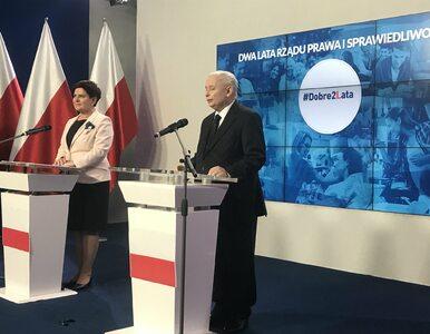 """Szydło i Kaczyński podsumowali dwa lata rządów PiS. """"Polakom żyje się..."""