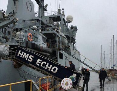 """Okręt brytyjskiej marynarki wojennej HMS Echo na Ukrainie. """"Wysyłamy..."""