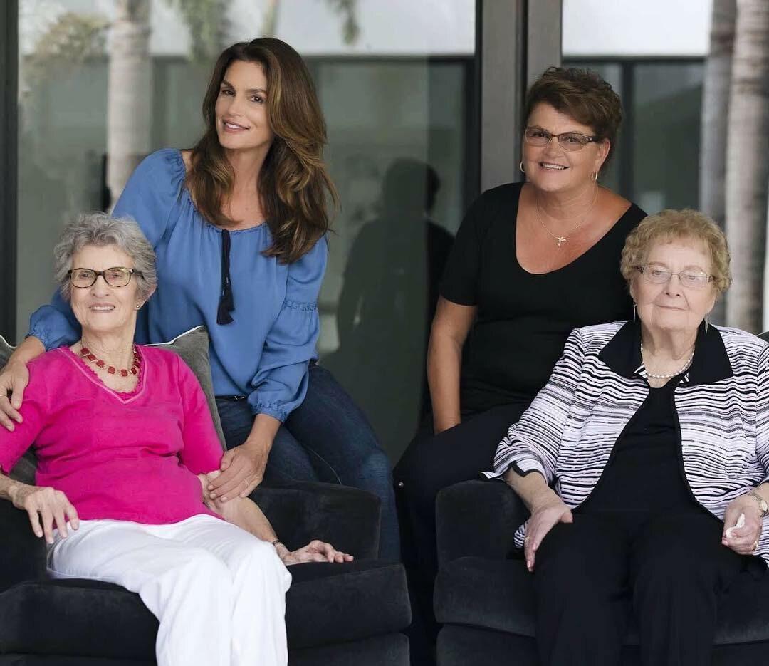 Cindy Crawford ze swoją matką i babcią