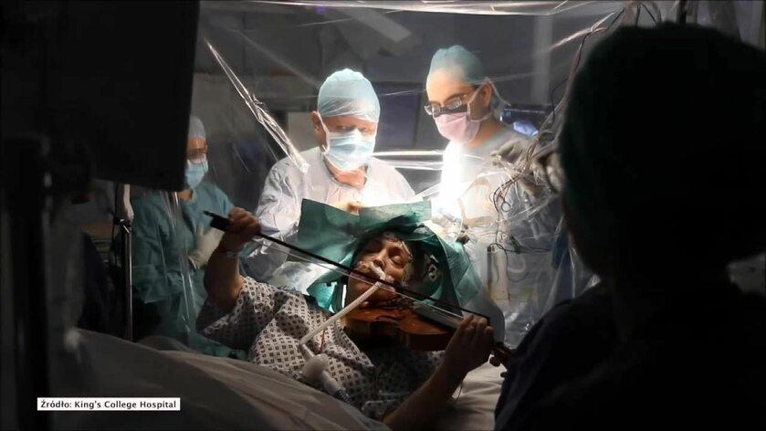 Skrzypaczka grała w trakcie operacji usuwania guza mózgu