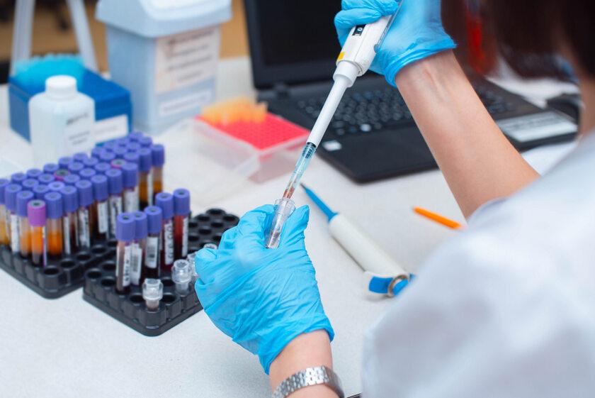 Badanie krwi w laboratorium