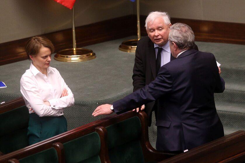 Jadwiga Emilewicz, Jarosław Kaczyński i Piotr Gliński