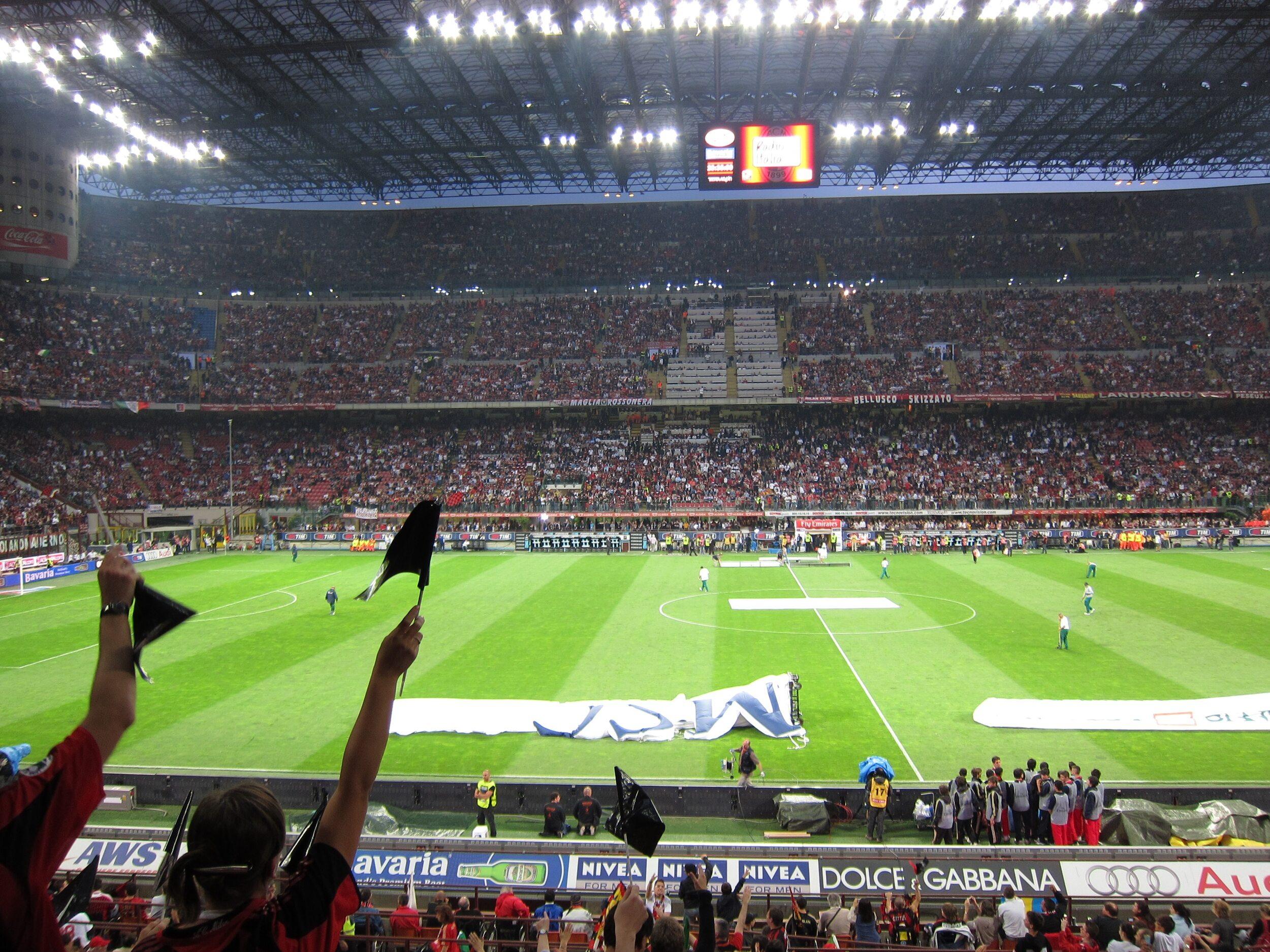 Stadion San Siro. Mecz AC Milanu