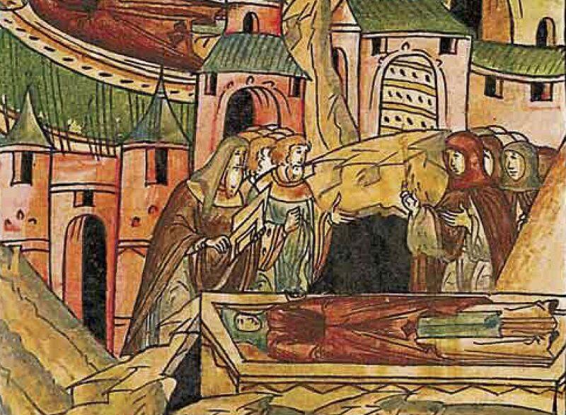 Śmierć Julianny, miniatura z XVI-wiecznej kroniki