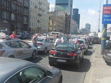 Protest taksówkarzy w Warszawie. 1,5 tys. samochodów zablokuje centrum