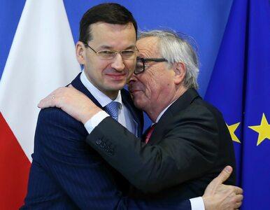 """Premier Morawiecki """"ofiarą"""" wylewnego powitania Junckera. Jak zareagował?"""