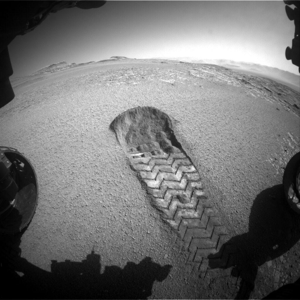 Ślad zostawiony przez łazik Curiosity