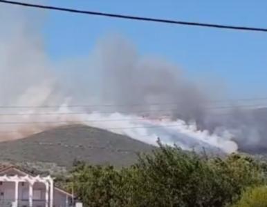 """Potężne pożary na greckiej wyspie, ewakuowano kilkaset osób. """"Módlmy..."""