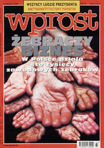 Okładka tygodnika Wprost nr 33/2000 (924)